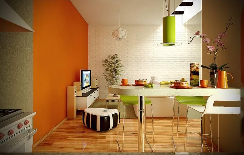 2-orange-lime-green-white-dining-living-room