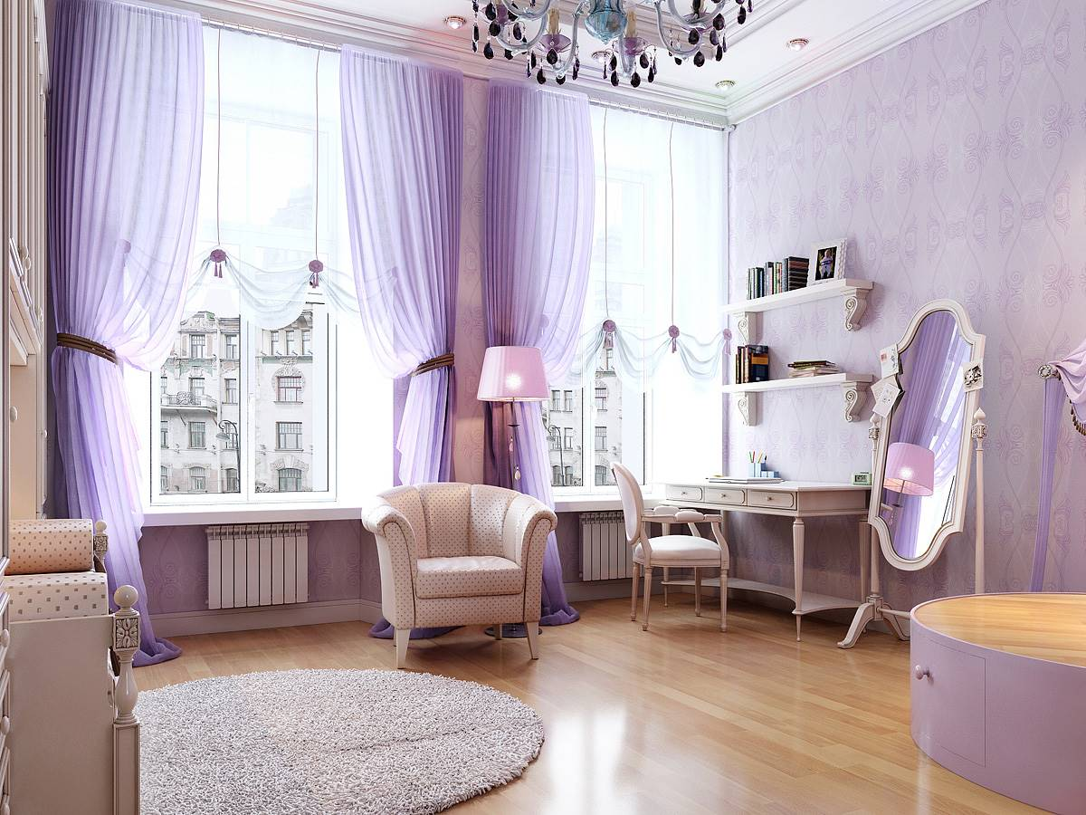 modern-traditional-french-interior-design-room-purple-tone-luxury-modern-classic-french-style-woman-bedroom-furniture-elegant-window-treatment-freestanding-mirror-adjustable-french-bedroom-for-female