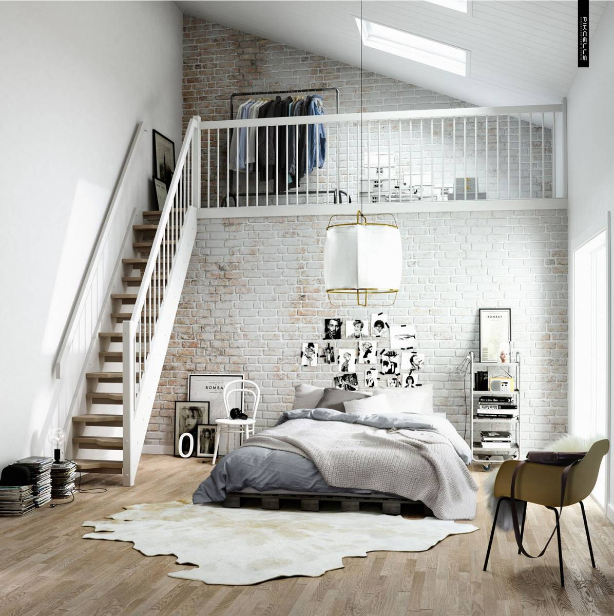 airy-and-fresh-scandinavian-bedroom-with-upstairs-closet-by-pikcells-visualisation-studio